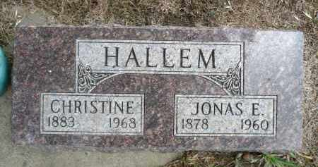 HALLEM, CHRISTINE - Minnehaha County, South Dakota | CHRISTINE HALLEM - South Dakota Gravestone Photos