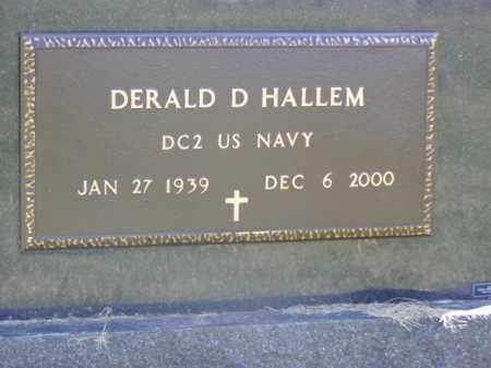 HALLEM, DERALD D. - Minnehaha County, South Dakota | DERALD D. HALLEM - South Dakota Gravestone Photos