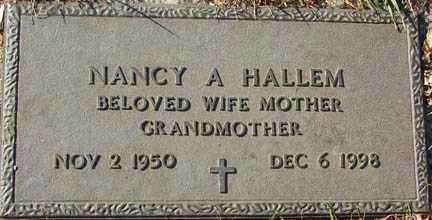HALLEM, NANCY A. - Minnehaha County, South Dakota   NANCY A. HALLEM - South Dakota Gravestone Photos