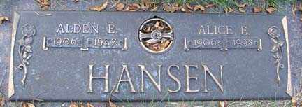 HANSEN, ALICE E. - Minnehaha County, South Dakota | ALICE E. HANSEN - South Dakota Gravestone Photos