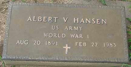 HANSEN, ALBERT V. (WWI) - Minnehaha County, South Dakota | ALBERT V. (WWI) HANSEN - South Dakota Gravestone Photos