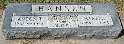HANSEN, MARTHA - Minnehaha County, South Dakota | MARTHA HANSEN - South Dakota Gravestone Photos