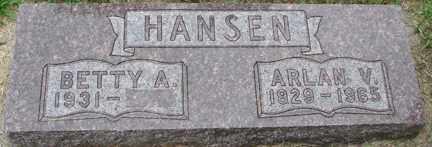 HANSEN, ARLAN V. - Minnehaha County, South Dakota   ARLAN V. HANSEN - South Dakota Gravestone Photos
