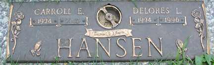 HANSEN, CARROLL E. - Minnehaha County, South Dakota | CARROLL E. HANSEN - South Dakota Gravestone Photos