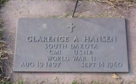 HANSEN, CLARENCE A. - Minnehaha County, South Dakota | CLARENCE A. HANSEN - South Dakota Gravestone Photos