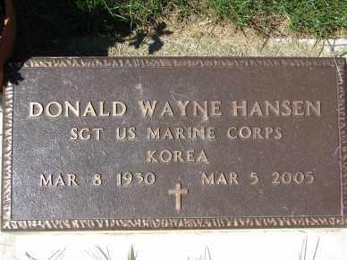 HANSEN, DONALD WAYNE - Minnehaha County, South Dakota | DONALD WAYNE HANSEN - South Dakota Gravestone Photos