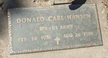 HANSEN, DONALD CARL - Minnehaha County, South Dakota   DONALD CARL HANSEN - South Dakota Gravestone Photos