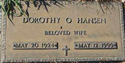 HANSEN, DOROTHY O. - Minnehaha County, South Dakota   DOROTHY O. HANSEN - South Dakota Gravestone Photos