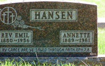 HANSEN, ANNETTE - Minnehaha County, South Dakota | ANNETTE HANSEN - South Dakota Gravestone Photos