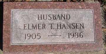 HANSEN, ELMER T. - Minnehaha County, South Dakota | ELMER T. HANSEN - South Dakota Gravestone Photos