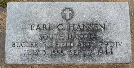 HANSEN, EARL C. (MILITARY) - Minnehaha County, South Dakota | EARL C. (MILITARY) HANSEN - South Dakota Gravestone Photos