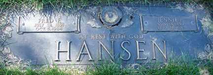 HANSEN, FRED F. - Minnehaha County, South Dakota | FRED F. HANSEN - South Dakota Gravestone Photos