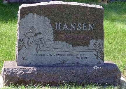 HANSEN, FAMILY HEADSTONE - Minnehaha County, South Dakota | FAMILY HEADSTONE HANSEN - South Dakota Gravestone Photos