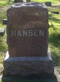 HANSEN, FAMILY MARKER - Minnehaha County, South Dakota | FAMILY MARKER HANSEN - South Dakota Gravestone Photos