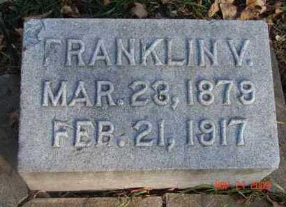 HANSEN, FRANKLIN  V. - Minnehaha County, South Dakota   FRANKLIN  V. HANSEN - South Dakota Gravestone Photos