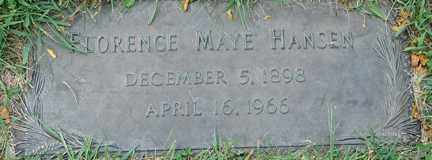 HANSEN, FLORENCE MAYE - Minnehaha County, South Dakota | FLORENCE MAYE HANSEN - South Dakota Gravestone Photos
