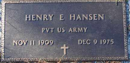 HANSEN, HENRY E. - Minnehaha County, South Dakota | HENRY E. HANSEN - South Dakota Gravestone Photos