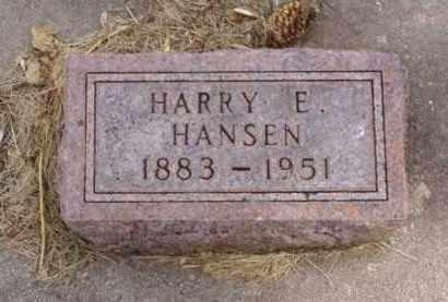 HANSEN, HARRY E. - Minnehaha County, South Dakota | HARRY E. HANSEN - South Dakota Gravestone Photos