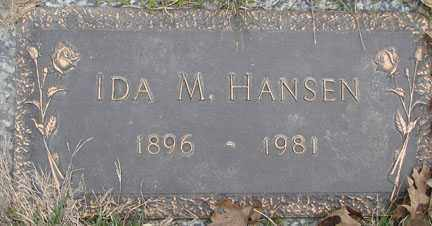 HANSEN, IDA M. - Minnehaha County, South Dakota | IDA M. HANSEN - South Dakota Gravestone Photos