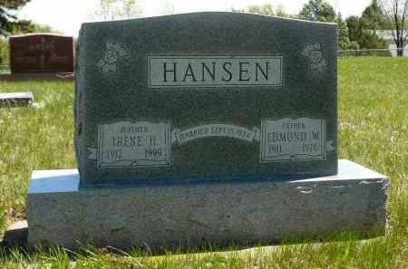 HANSEN, EDMOND W. - Minnehaha County, South Dakota   EDMOND W. HANSEN - South Dakota Gravestone Photos
