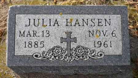 HANSEN, JULIA - Minnehaha County, South Dakota   JULIA HANSEN - South Dakota Gravestone Photos