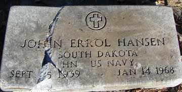 HANSEN, JOHN ERROL (BROKEN STONE) - Minnehaha County, South Dakota | JOHN ERROL (BROKEN STONE) HANSEN - South Dakota Gravestone Photos