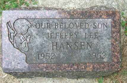 HANSEN, JEFFREY LEE - Minnehaha County, South Dakota | JEFFREY LEE HANSEN - South Dakota Gravestone Photos