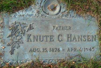 HANSEN, KNUTE C. - Minnehaha County, South Dakota | KNUTE C. HANSEN - South Dakota Gravestone Photos