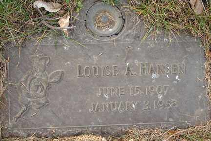 HANSEN, LOUISE ALBERTA - Minnehaha County, South Dakota   LOUISE ALBERTA HANSEN - South Dakota Gravestone Photos