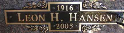 HANSEN, LEON H. - Minnehaha County, South Dakota | LEON H. HANSEN - South Dakota Gravestone Photos