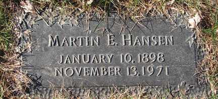 HANSEN, MARTIN E. - Minnehaha County, South Dakota | MARTIN E. HANSEN - South Dakota Gravestone Photos