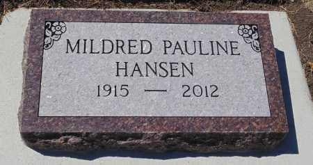 HANSEN, MILDRED PAULINE - Minnehaha County, South Dakota | MILDRED PAULINE HANSEN - South Dakota Gravestone Photos