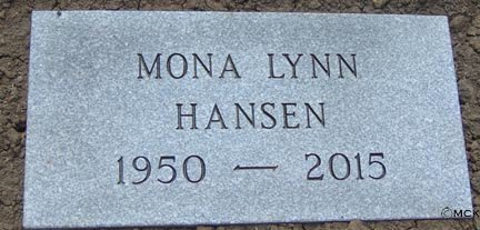 HANSEN, MONA LYNN - Minnehaha County, South Dakota | MONA LYNN HANSEN - South Dakota Gravestone Photos