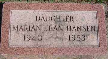 HANSEN, MARIAN JEAN - Minnehaha County, South Dakota | MARIAN JEAN HANSEN - South Dakota Gravestone Photos