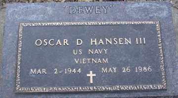 HANSEN, OSCAR D. III (VIETNAM) - Minnehaha County, South Dakota | OSCAR D. III (VIETNAM) HANSEN - South Dakota Gravestone Photos