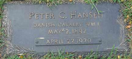 HANSEN, PETER C. - Minnehaha County, South Dakota   PETER C. HANSEN - South Dakota Gravestone Photos