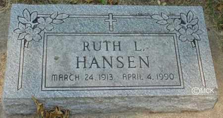 HANSEN, RUTH L. - Minnehaha County, South Dakota | RUTH L. HANSEN - South Dakota Gravestone Photos