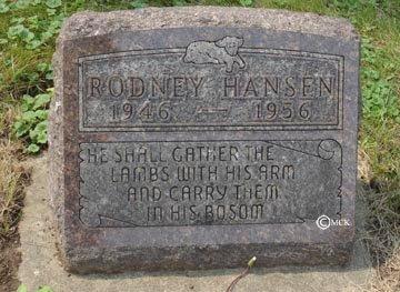 HANSEN, RODNEY - Minnehaha County, South Dakota | RODNEY HANSEN - South Dakota Gravestone Photos