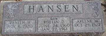 HANSEN, ROLLIN D. - Minnehaha County, South Dakota | ROLLIN D. HANSEN - South Dakota Gravestone Photos