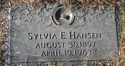 HANSEN, SYLVIA E. - Minnehaha County, South Dakota | SYLVIA E. HANSEN - South Dakota Gravestone Photos