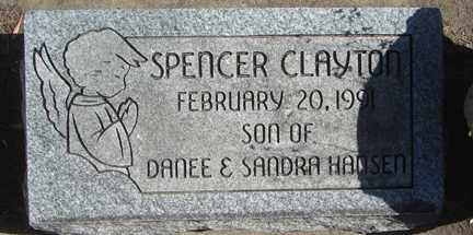 HANSEN, SPENCER CLAYTON - Minnehaha County, South Dakota | SPENCER CLAYTON HANSEN - South Dakota Gravestone Photos