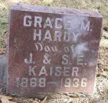 KAISER HARDY, GRACE M. - Minnehaha County, South Dakota   GRACE M. KAISER HARDY - South Dakota Gravestone Photos
