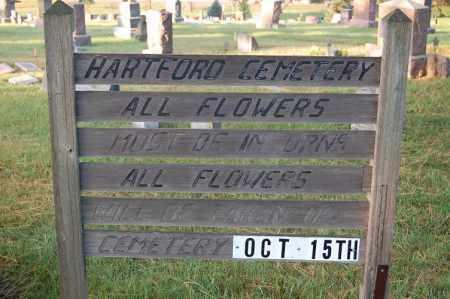 *HARTFORD, ENTRANCE SIGN - Minnehaha County, South Dakota   ENTRANCE SIGN *HARTFORD - South Dakota Gravestone Photos