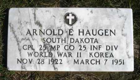 HAUGEN, ARNOLD E. - Minnehaha County, South Dakota   ARNOLD E. HAUGEN - South Dakota Gravestone Photos