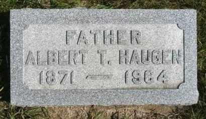 HAUGEN, ALBERT T. - Minnehaha County, South Dakota | ALBERT T. HAUGEN - South Dakota Gravestone Photos