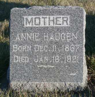 HAUGEN, ANNIE - Minnehaha County, South Dakota | ANNIE HAUGEN - South Dakota Gravestone Photos