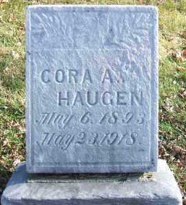 HAUGEN, CORA A. - Minnehaha County, South Dakota | CORA A. HAUGEN - South Dakota Gravestone Photos