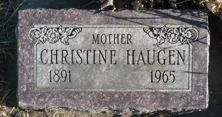 HAUGEN, CHRISTINE - Minnehaha County, South Dakota | CHRISTINE HAUGEN - South Dakota Gravestone Photos