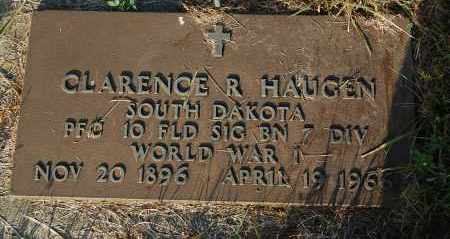 HAUGEN, CLARENCE R. (WW I) - Minnehaha County, South Dakota | CLARENCE R. (WW I) HAUGEN - South Dakota Gravestone Photos