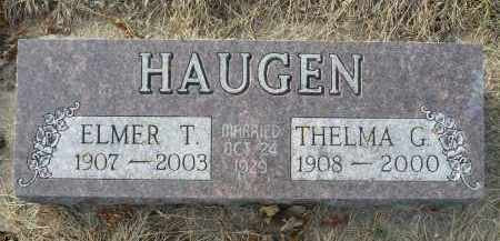 HAUGEN, ELMER T. - Minnehaha County, South Dakota | ELMER T. HAUGEN - South Dakota Gravestone Photos